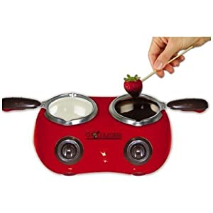 Deluxe Chocolatiere-dual Electric Chocolate Melting Pot