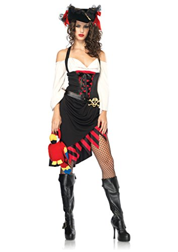 Leg Avenue Womens Saucy Wench Caribbean Pirate Outfit Fancy Dress Sexy Costume