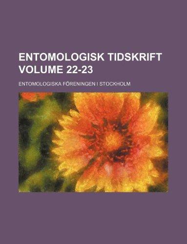 Entomologisk tidskrift Volume 22-23