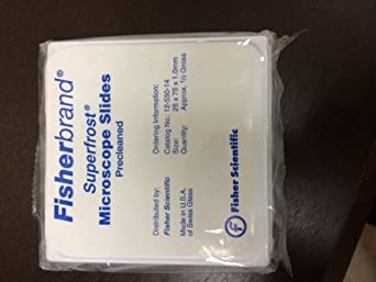 Fisherbrand* Superfrost* Disposable Microscope Slides > 25x75x1mm