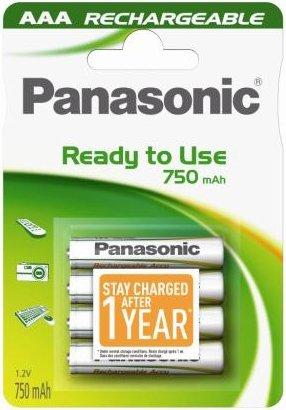 Panasonic HHR - 4MVE rechargeables prêtes à l'emploi AAA 750mAh - 4 piles rechargeables