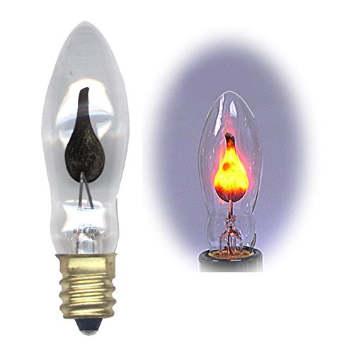 Flicker Flame Light Bulb Dances With A Flickering Orange Glow Pkg 10