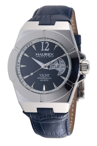 Haurex Italy Women's 8A340DB1 Yacht Moon and Star Blue Dial Watch