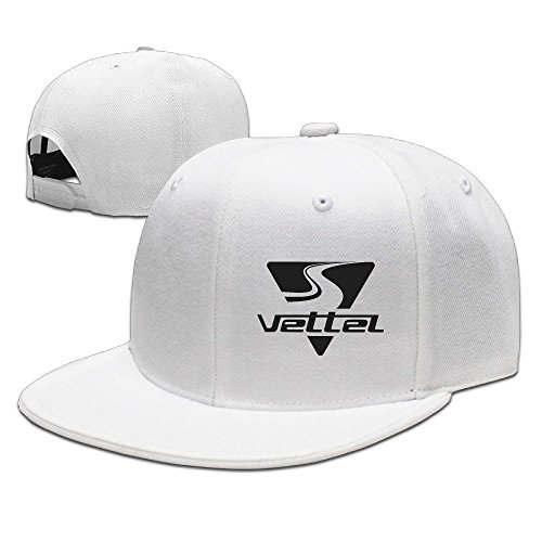 hittings Sebastian Vettel Unisex Fashion Cool Adjustable snapback Baseball Cap Hat One Size White
