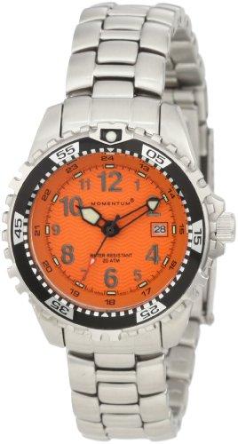 Momentum M1 1M-DV01O0 - Reloj analógico de cuarzo para mujer, correa de acero inoxidable color plateado