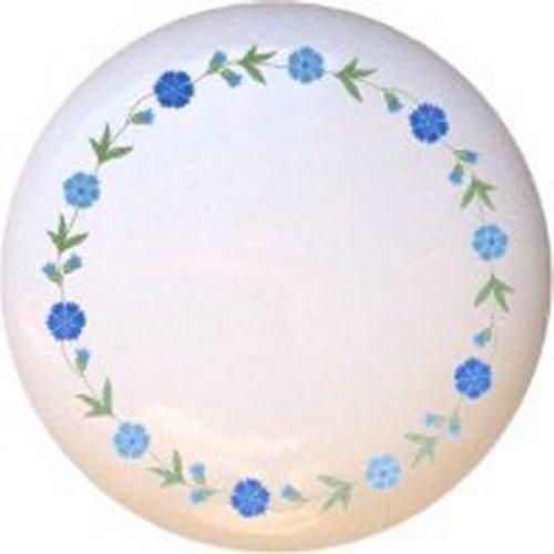 Spring Blue Decorative Glossy Ceramic Drawer Pull Dresser Knob (Corelle Chutney Dishes compare prices)