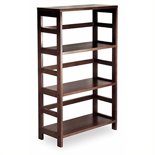 Winsome Wood 3-Shelf Wide Shelving Unit, Espresso (Shelving Modular compare prices)