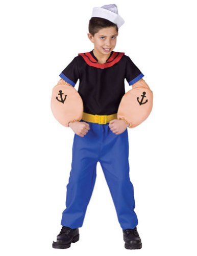Popeye Child Lg 12-14 Kids Boys Costume
