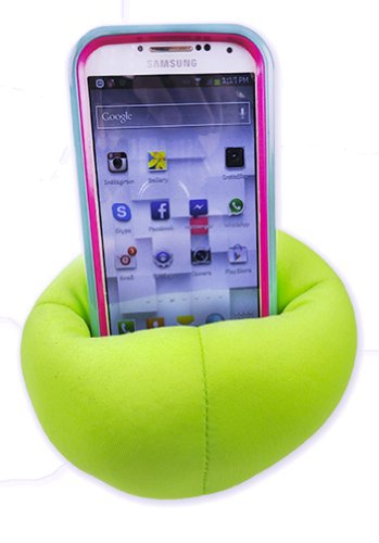 Cell Phone Holder Bean Bag Chair (Green)