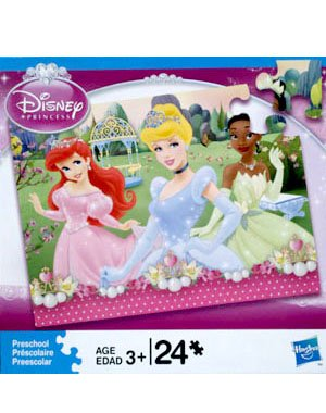 Cheap Hasbro Disney Princesses 24 Piece Puzzle – Ariel, Cinderella and Tiana (B0051425QC)