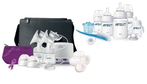 Philips Avent Double Electric Comfort Breast Pump With Classic Infant Starter Set