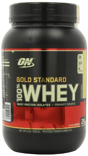 Optimum Nutrition 100% Whey Gold Standard, Banana Cream, 2 Pound