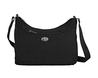 Baggallini Luggage Charm Satin Quilted Tote, Black, One Size