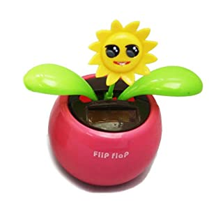 Cute Adornment in Car Solar Powered Swinging Flower Qc010028 C