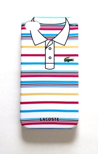 Crocodile T-Shirt Style White Plastic Skin Case Cover for iPhone 4