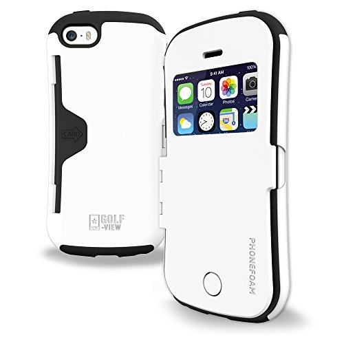 phone-wallet-flip-cover-phonefoam-view-case-for-apple-iphone-5-5c-5s-se-white