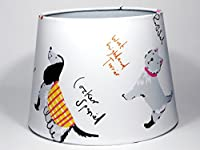 """Dog Lampshade or Ceiling Light Shade 9.5"""" Dual Purpose Girls Kids Children's Toddler Bedroom Playroom Nursery Lampshade by Candy Bottle lamps UK"""