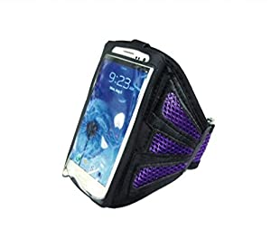 Buena calidad de malla púrpura Correr cubierta de la caja del brazal para i9500 Samsung Galaxy S4 SIV en BebeHogar.com