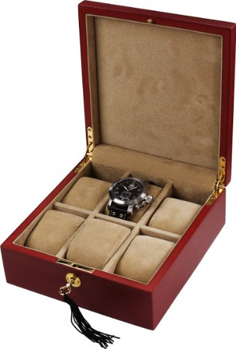 Auer Accessories Bateia 036CM Watch Box For 6 Watches Cherry Wood (matt)