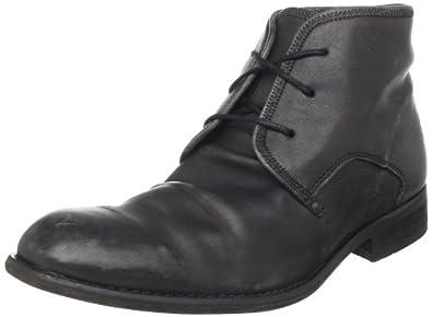 Fly London Mens Watt Desert Boots P141854002 Black Washed 6 UK, 40 EU