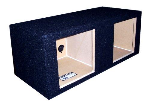 "Ground Shaker Sk212 12-Inch 12"" Dual Kicker Solobaric Square Enclosure Subwoofer Box"