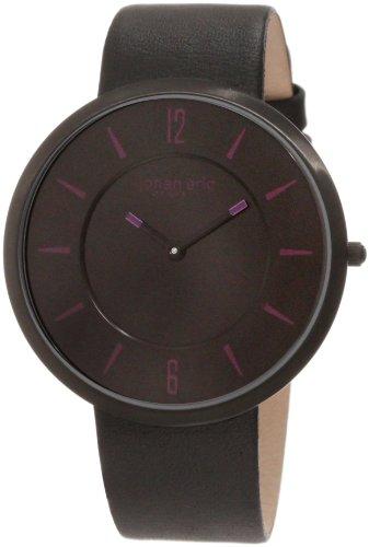 Johan Eric JE5001-13-007 - Reloj analógico de cuarzo para mujer con correa de piel, color negro