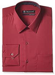 Hancock Men's Formal Shirt (9316Red_42)