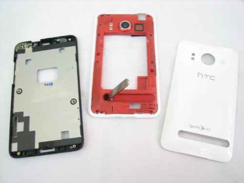 Sprint HTC EVO 4G ~ White Housing Cover Door Case Frame Fascia Plate Mobile Phone Repair Parts Replacement (Htc Phone Parts compare prices)