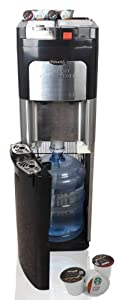 Estratto Commercial Single Serve Coffee Maker & Stainless Water Cooler by Estratto