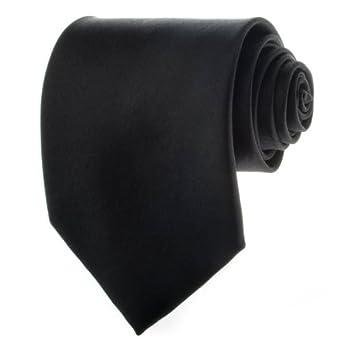 Solid Black 3.875 Inch Men's Necktie