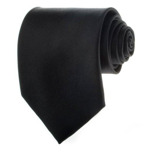 Solid Black Men's Necktie