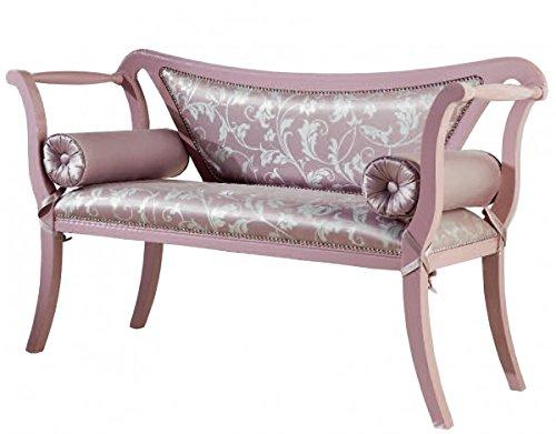 divanetto in legno 2 posti imbottito P51 L123 H84
