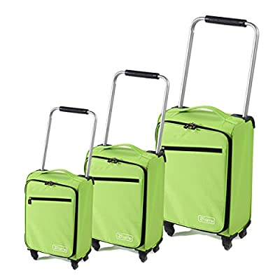 "Green ZFrame Super Lightweight Suitcase Set 18"", 22"", 26"" 3rd from ZFrame"
