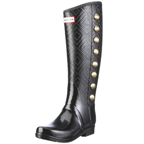 Hunter Women's Regent Grosvenor Black Wellington Boot W24028 7 UK