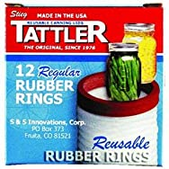 Tattler Reusable Canning Lids R1DOZRR Reusable Replacement Canning Jar Ring