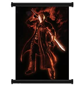"Devil May Cry Anime Game Fabric Wall Scroll Poster (31"" x 47"") Inches"