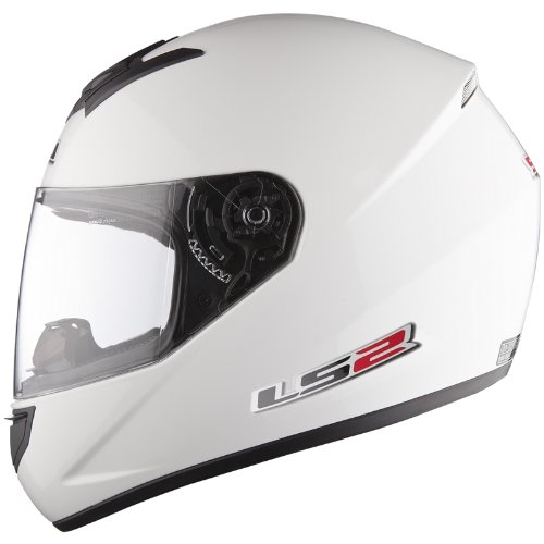 LS2-FF351-Single-Mono-Casco-de-Moto-Integral-casco-ligero-blanco-S
