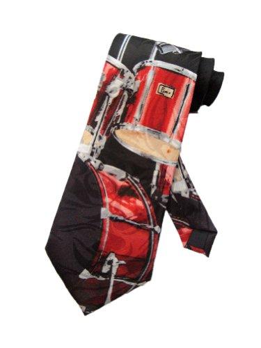 Steven-Harris-Mnner-Schlagzeug-Drummer-Band-Krawatte-schwarz-Einheitsgre