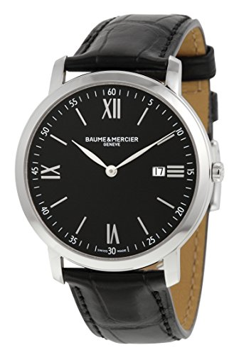 baume-and-mercier-classima-executives-black-dial-stainless-steel-mens-watch-10098