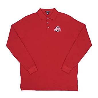 Antigua ohio state classic pique long sleeve for Ohio state polo shirt 3xl