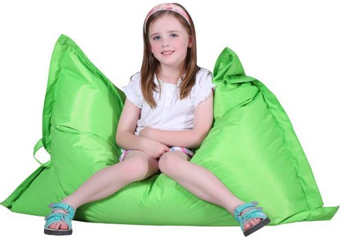 Puregadgets© Kids Children's Giant Pillow Beanbag Cushion for Child Teen Bean Bag Sofa Gaming available in Lime Green