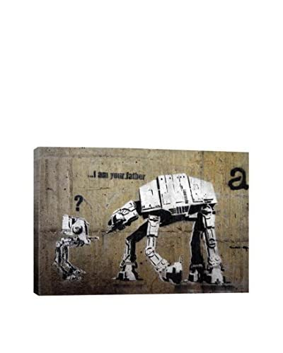 Banksy Gallery I Am Your Father Canvas Print