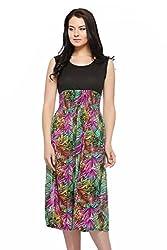 Fasnoya Women's Dress (d37_Multi_40)