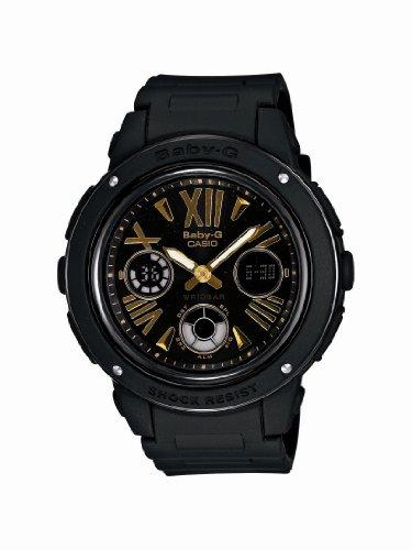 Casio Women'S Bga153-1B Baby-G Baby-G Shock Black And Rosegold Tone Analog Watch front-1004745