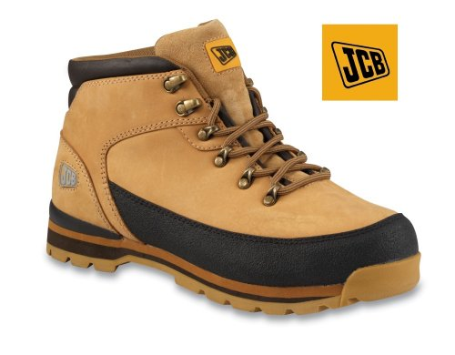 JCB Hiker 3CX Leather Fully Waterproof Work Safety Boots With Steel Toe Cap And Midsole (10 UK / 44 EU, Honey Nubuck)
