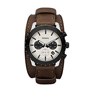 Fossil Herren-Armbanduhr XL Chronograph Leder JR1395