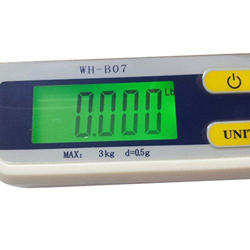 Weiheng WH-B07L Balance de Cuisine 3kg Maximum Précision 0.5g rétroéclairage