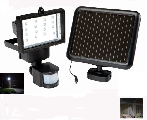 Super Solar Powered Floodlight 16 Led Garage Sensor Security Light 1150 Lumens + Duracell Aaa Batteries X4 For Free (Batteries Are Brand New But Loose From Bulk Package Expired In 2019)