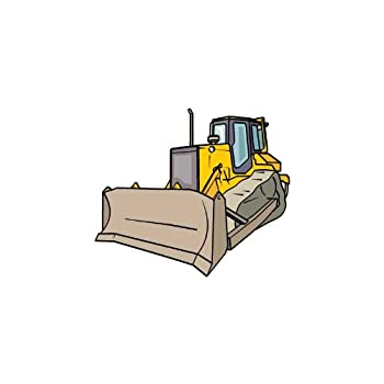Cheap!! Vehicle Wall Decals - Left Side View Yellow Bulldozer - 48 ...