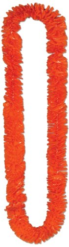 Beistle 66355-O Soft-Twist Poly Leis, 1-1/2-Inch By 36-Inch